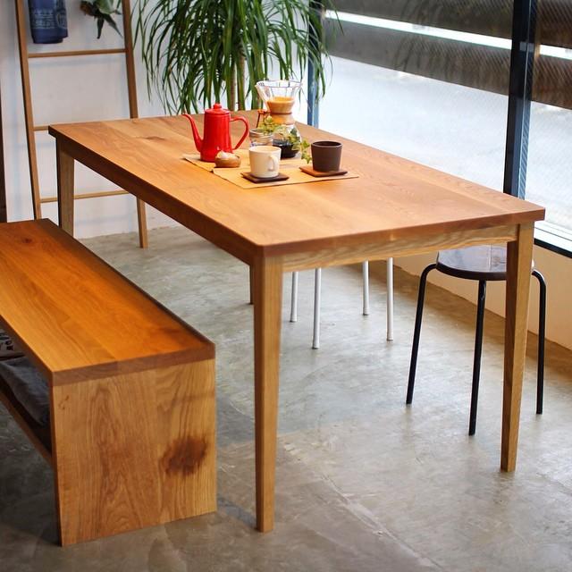 オーク,テーブル,ベンチ,滋賀