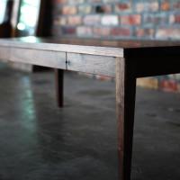 ローテーブル、ウォールナット、引き出し