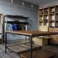什器、テーブル、商品棚、ハンガーラック、ミラー