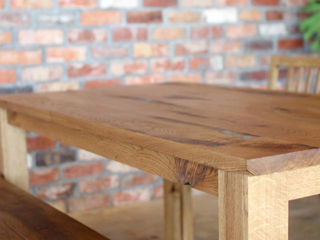 オーク、テーブル、無垢