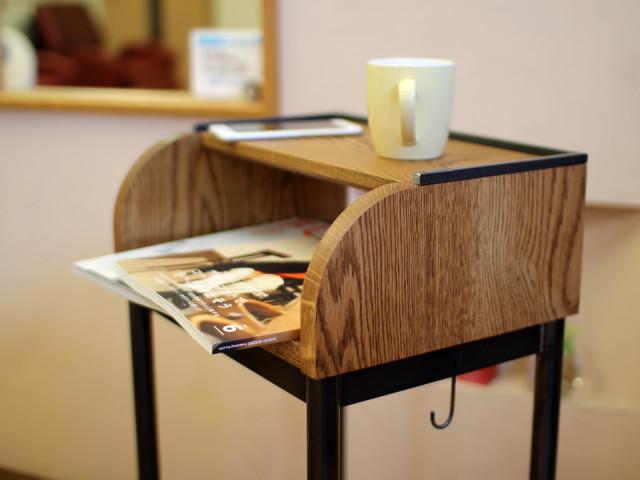 サイドテーブル、ドリンク台、美容室