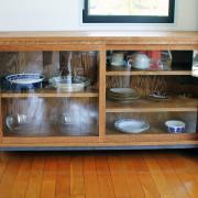 カップボード、食器棚、キャビネット、チェスト、無垢、オーク