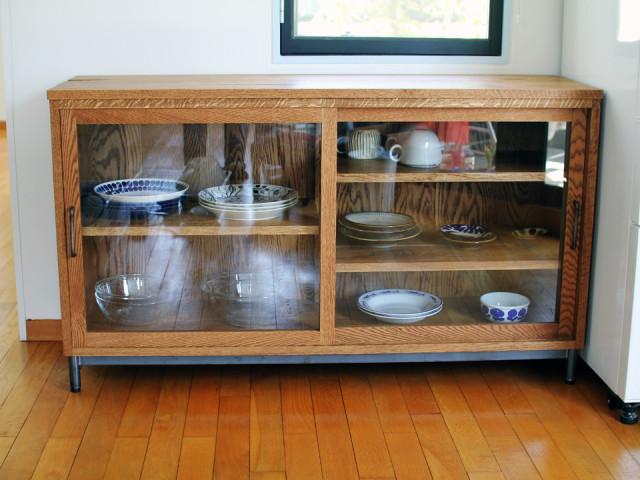 食器棚、キャビネット、チェスト、無垢、オーク