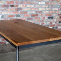 アイアン、ダイニングテーブル、無垢、オーク