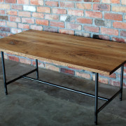ダイニングテーブル、アイアン、無垢、オイル、オーク
