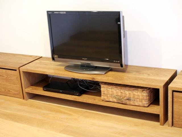 テレビボード、オーク、無垢、シンプル