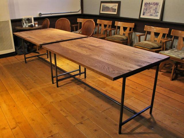 テーブル、無垢、オーク、無骨、かっこいい